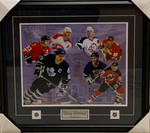 Doug Gilmour 7 Teams Signed Framed 16x20 with Inscriptions