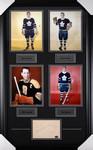 Toronto Maple Leafs - Boston Bruins Signed Photo Collage Tim Horton / Milt Schmidt / Ron Stewart/ Dick Duff