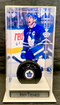 John Tavares signed puck with case