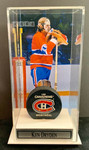 Ken Dryden signed Montreal Canadiens Puck With Custom Display