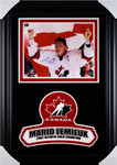 Mario Lemieux Team Canada 2002 Olymipics Signed 11x14 Framed Photo with Team Canada Logo