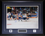 Doug Gilmour Signed 11x14  Framed Photo 1993 OT Goal