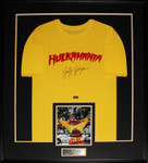 Hulk Hogan SIGNED Hulkamainia Shirt framed  WWF