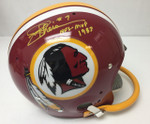 Joe Theismann Autographed Washington Redskins Helmet with Single Bar