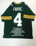 Brett Favre Signed Green Bay Packers Stats Jersey