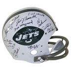 1969 NY Jets Signed Tk Throwback Riddell Helmet