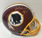 Art Monk Signed Riddell Washington Redskins Helmet