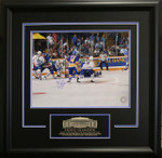 Gilmour Signed 11x14  Framed Etched Photo 1993 OT Goal