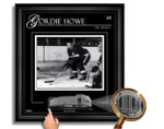 Gordie Howe Autographed Detroit Redwings Framed 16x20 Etched Glass