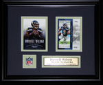 Russell Wilson 2 cards Seattle Seahawks Framed 341427