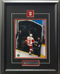 Steve Yzerman Autographed 8x10 Redwings Framed Photo