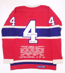 Jean Beliveau SIGNED Montreal Canadiens Wool Jersey Limited Edition