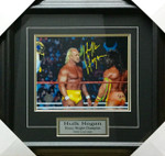 Hulk Hogan Signed 11x14 Hulk Vs Warrior