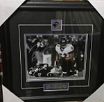 Ray Lewis Sack Autographed 8x10 Framed