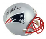 Rob Gronkowski Signed Riddell New England Patriots Helmet