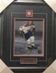 Jean Beliveau-Action Canadiens Signed 8x10 Framed