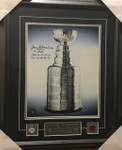 Jean Beliveau- Stanley Cup Signed 11x14 Canadiens Framed