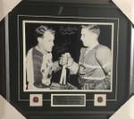 Jean Beliveau & Gordie Howe Signed Dual 11x14 Framed