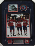 Lafleur, Beliveau & M.Richard Montreal Canadiens Signed Puck Framed With 8x10