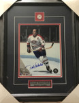 Frank Mahovlich Canadiens Signed 8x10 Framed