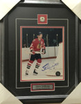 Stan Mikita Single Blackhawks Signed 8x10 Framed