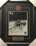 Stan Mikita Blackhawks Signed 8x10 Framed