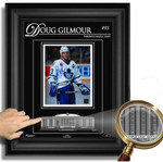 Doug Gilmour Signed Toronto Maple Leafs 8x10 Etched Glass