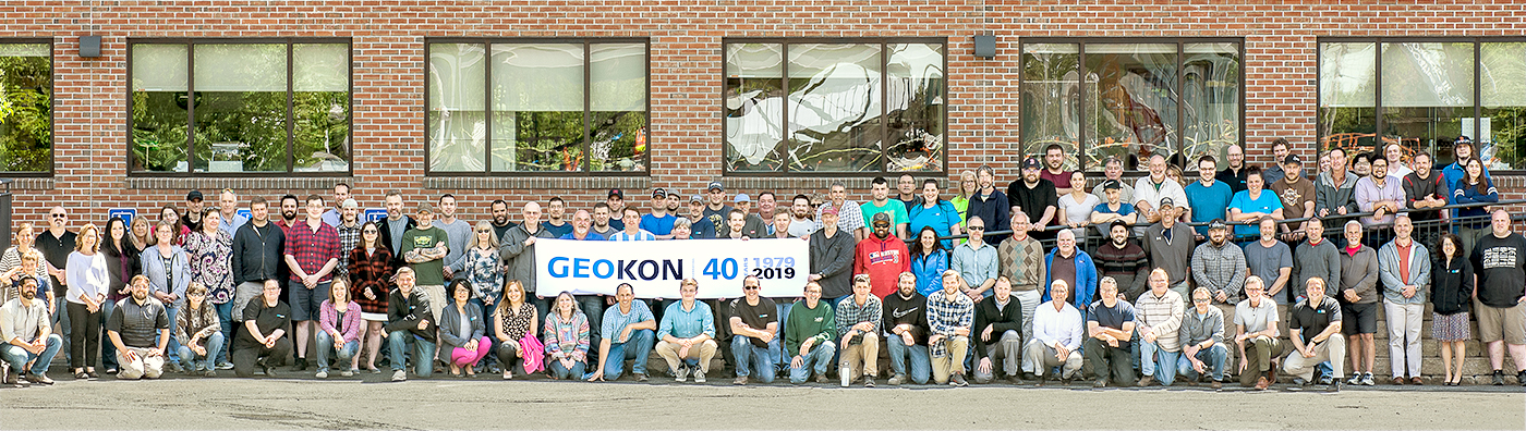 Photo of GEOKON employees celebrating our 40th Anniversay.