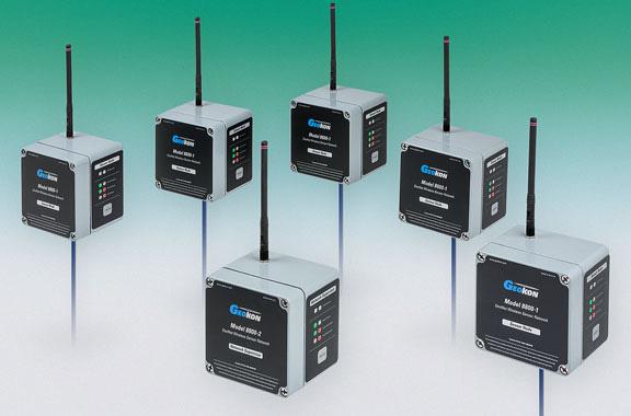 Photo of Model 8800-2 Network Supervisor and Model 8800-1 Sensor Nodes.