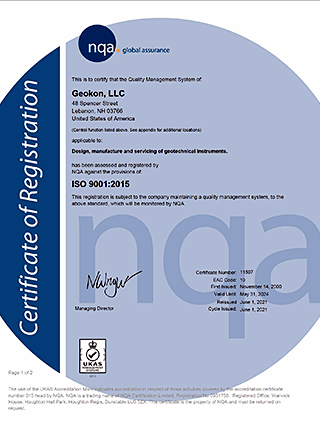 ISO 9001:2015 Certificate 11507