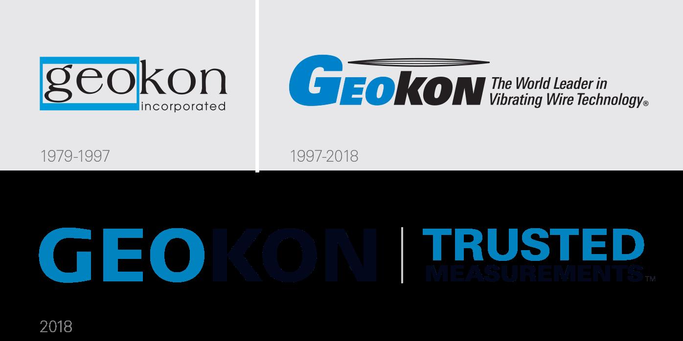 GEOKON logo history.