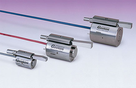 Photo of the Model 4300 Vibrating Wire Borehole Stressmeters.