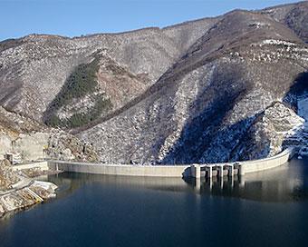 Photo of the Tsankov Kamak Dam and Hydroelectric Power Plant.