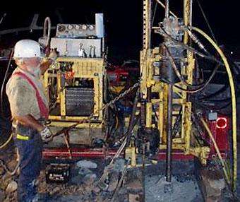 Photo of field work at the Kimballton Mine.