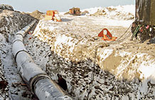 Photo of Pipeline construction.