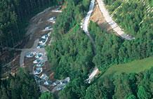 Photo of slope testing.