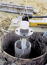 Photo of Extensometer installation.