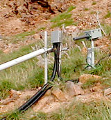 Photo of slope monitoring.