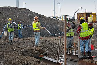 Photo of wind turbines.