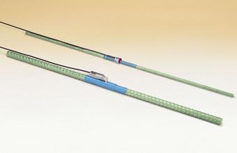 """Model 3911A (front) and 3911 (#4 rebar) """"Sister Bar"""" (rear) Rebar Strainmeters."""
