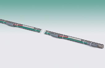 Model 4150 Addressable Strain Gage, shown on soil nail.