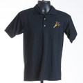 Polo Performance Shirt (black & maroon)
