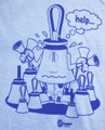 "T-shirt  ""Help!"" (light blue & light pink)"