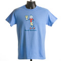 "T-shirt  ""Good Vibrations"" - boy (Carolina blue)"