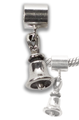 Dangle Handbell Charm & spacer - SS