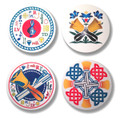 Beverage Coasters (set of 4/colored)