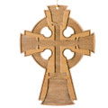 Wood Ornament - Handbell Cross