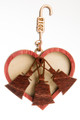 "Wood Ornament  - ""Heart & 3 Bells"""