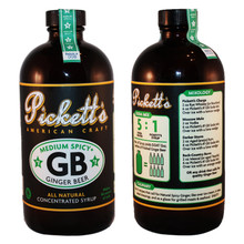 Pickett's #1 'Medium Spicy' Ginger Beer 2pack (16oz bottles) Concentrated Syrup