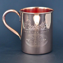 Beautiful solid copper 16 oz Moscow Mule Mug.  The perfect cup to drink Pickett's Ginger Beer out of.  Copper conducts the cold of the ice at a greater level, which makes your cocktail more refreshing.